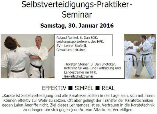 SV-Lehrgang mit Thorsten Steiner und Roland Runkel